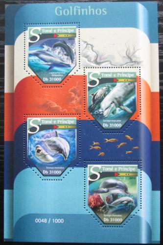 Poštovní známky Svatý Tomáš 2015 Delfíni Mi# 6420-23 Kat 12€