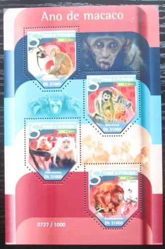 Poštovní známky Svatý Tomáš 2015 Rok opice Mi# 6430-33 Kat 12€