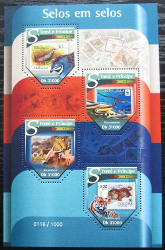 Poštovní známky Svatý Tomáš 2015 Fauna na známkách Mi# 6435-38 Kat 12€