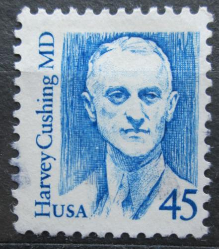 Poštovní známka USA 1988 Harvey Cushing, neurochirurg Mi# 1984