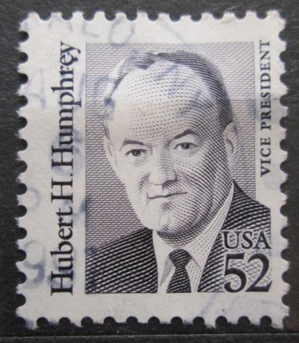 Poštovní známka USA 1991 Hubert H. Humphrey, viceprezident Mi# 2145