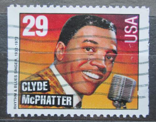 Poštovní známka USA 1993 Clyde McPhatter, zpìvák Mi# 2383