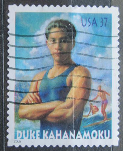 Poštovní známka USA 2002 Duke Kahanamoku, surfaø Mi# 3634