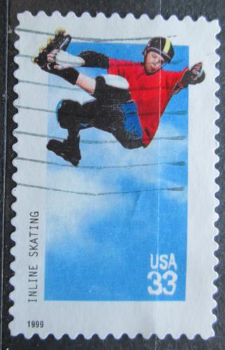 Poštovní známka USA 1999 In-line bruslení Mi# 3147