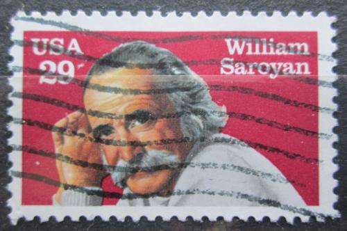 Poštovní známka USA 1991 William Saroyan, spisovatel Mi# 2136