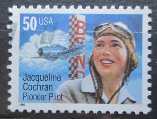 Poštovní známka USA 1996 Jacqueline Cochran, pilotka Mi# 2700