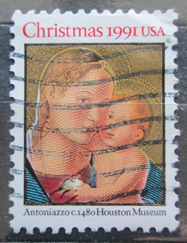 Poštovní známka USA 1991 Vánoce, umìní, Antoniazzo Romano Mi# 2194 A