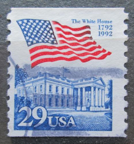 Poštovní známka USA 1992 Vlajka a Bílý dùm Mi# 2213