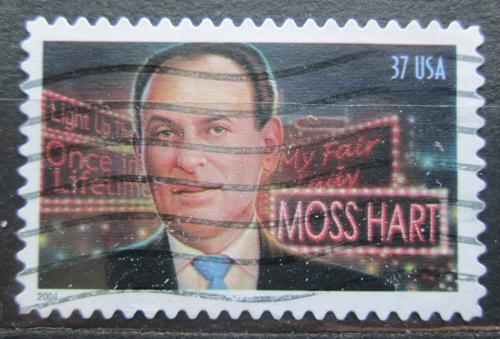 Poštovní známka USA 2004 Moss Hart, spisovatel Mi# 3883