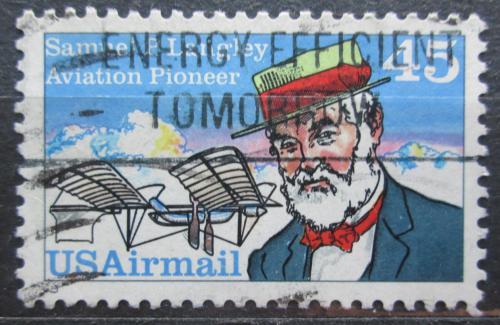 Poštovní známka USA 1988 Samuel P. Langley, astrofyzik Mi# 1977