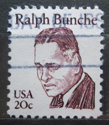 Poštovní známka USA 1982 Ralph J. Bunche, nositel Nobelovy ceny Mi# 1524