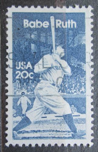Poštovní známka USA 1983 Babe Ruth, baseball Mi# 1641