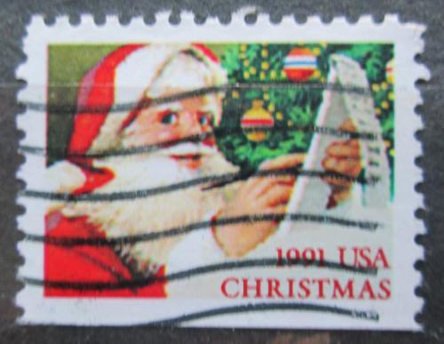 Poštovní známka USA 1991 Vánoce, Santa Claus Mi# 2196 D