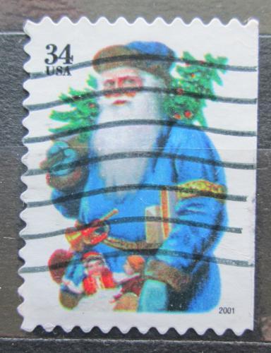 Poštovní známka USA 2001 Vánoce, Santa Claus Mi# 3496 BD