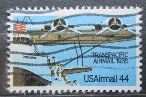 Poštovní známka USA 1985 Poštovní letadlo Mi# 1727