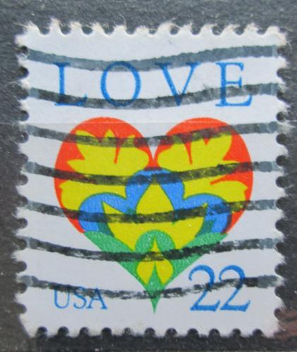 Poštovní známka USA 1987 Láska Mi# 1864