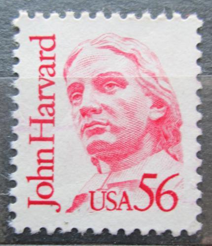 Poštovní známka USA 1986 John Harvard, teolog Mi# 1844