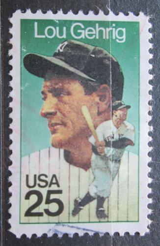 """Poštovní známka USA 1989 Henry Louis """"Lou"""" Gehrig, baseball Mi# 2043"""