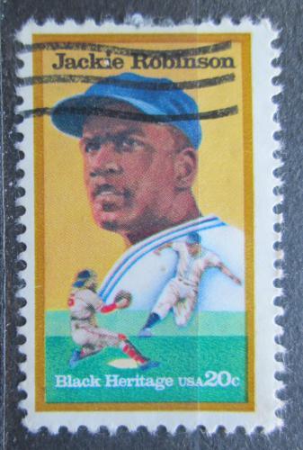 Poštovní známka USA 1982 Jackie Robinson, baseball Mi# 1596