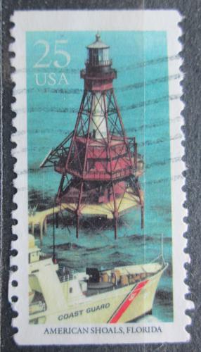 Poštovní známka USA 1990 Maják, American Shoals, Florida Mi# 2088