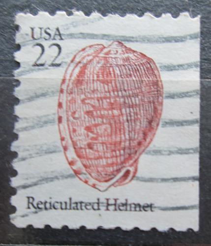 Poštovní známka USA 1985 Cypraecassis testiculus Mi# 1742 D
