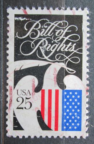 Poštovní známka USA 1989 Listina práv, 200. výroèí Mi# 2050