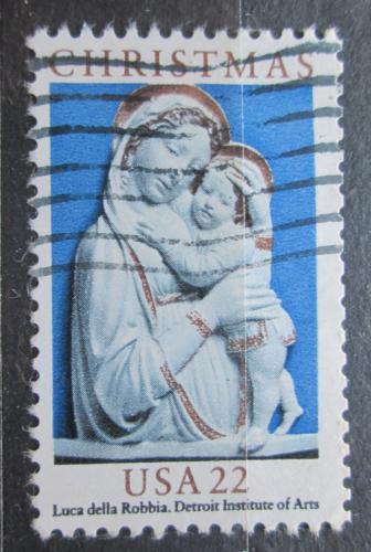 Poštovní známka USA 1985 Vánoce, socha, Luca della Robbia Mi# 1778