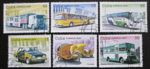 Poštovní známky Kuba 2007 Dopravní prostøedky Mi# 4967-72