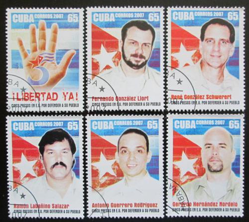 Poštovní známky Kuba 2007 Kubánští špioni Mi# 4975-80