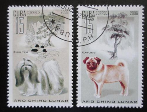 Poštovní známky Kuba 2006 Èínský nový rok, rok psa Mi# 4774-75