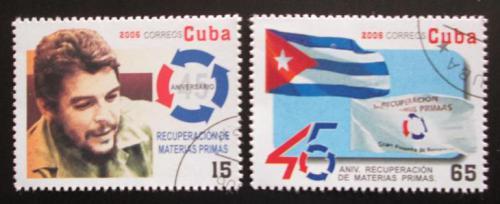 Poštovní známky Kuba 2006 Ernesto Che Guevara a vlajka Mi# 4835-36