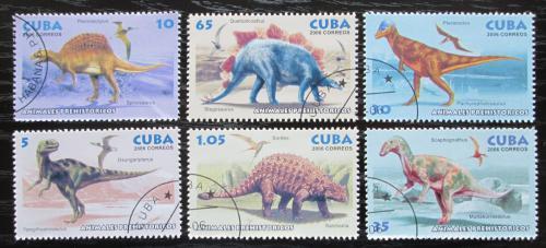 Poštovní známky Kuba 2006 Dinosauøi Mi# 4796-4801
