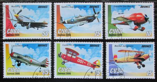 Poštovní známky Kuba 2006 Letadla Mi# 4821-26