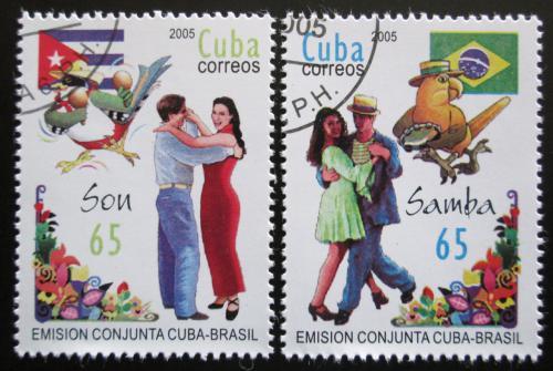 Poštovní známky Kuba 2005 Tanec Mi# 4698-99