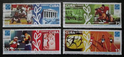 Poštovní známky Kuba 2004 LOH Atény Mi# 4574-77