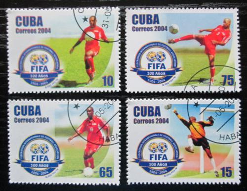 Poštovní známky Kuba 2004 FIFA, 100. výroèí Mi# 4612-15