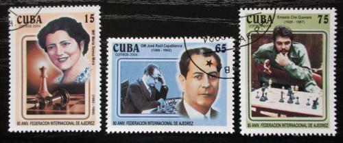 Poštovní známky Kuba 2004 Slavní šachisti Mi# 4616-18