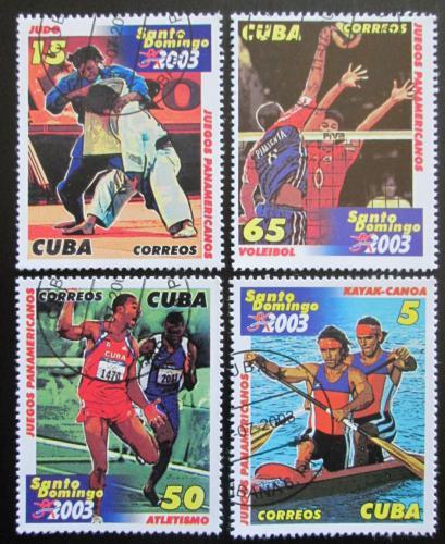 Poštovní známky Kuba 2003 Pan-americké hry Mi# 4526-29