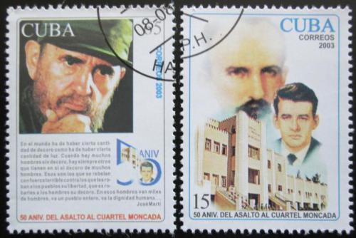 Poštovní známky Kuba 2003 Útok na kasárny Moncada Mi# 4530-31