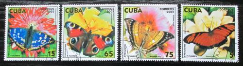 Poštovní známky Kuba 2003 Motýli Mi# 4544-47