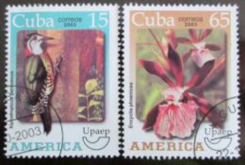 Poštovní známky Kuba 2003 Fauna a flóra Mi# 4557-58