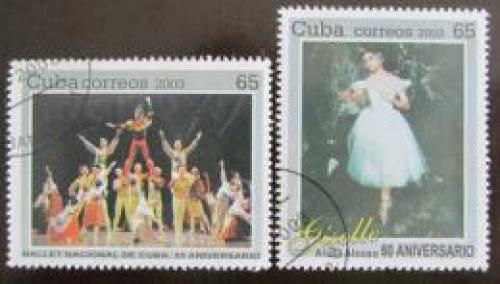 Poštovní známky Kuba 2003 Státní balet Mi# 4566-67