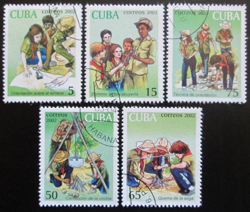 Poštovní známky Kuba 2002 Mladí pionýøi Mi# 4414-18 Kat 5.50€