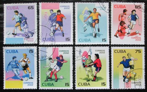 Poštovní známky Kuba 2002 MS ve fotbale Mi# 4420-27 Kat 8€