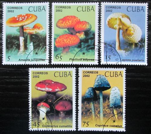 Poštovní známky Kuba 2002 Houby Mi# 4438-42 Kat 5.50€