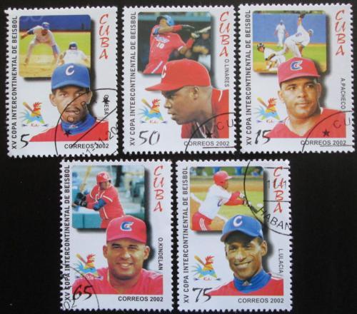Poštovní známky Kuba 2002 Baseball Mi# 4467-71 Kat 6€