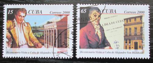 Poštovní známky Kuba 2000 Alexander von Humboldt Mi# 4322-23