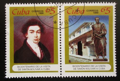 Poštovní známky Kuba 1999 Simón Bolívar Mi# 4196-97 Kat 3.60€
