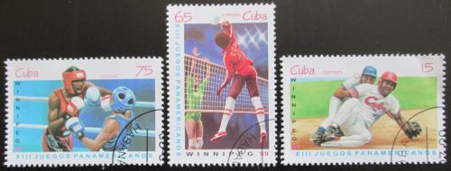 Poštovní známky Kuba 1999 Pan-americké hry Mi# 4211-13