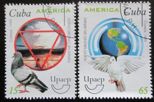 Poštovní známky Kuba 1999 Svìt beze zbraní Mi# 4242-43